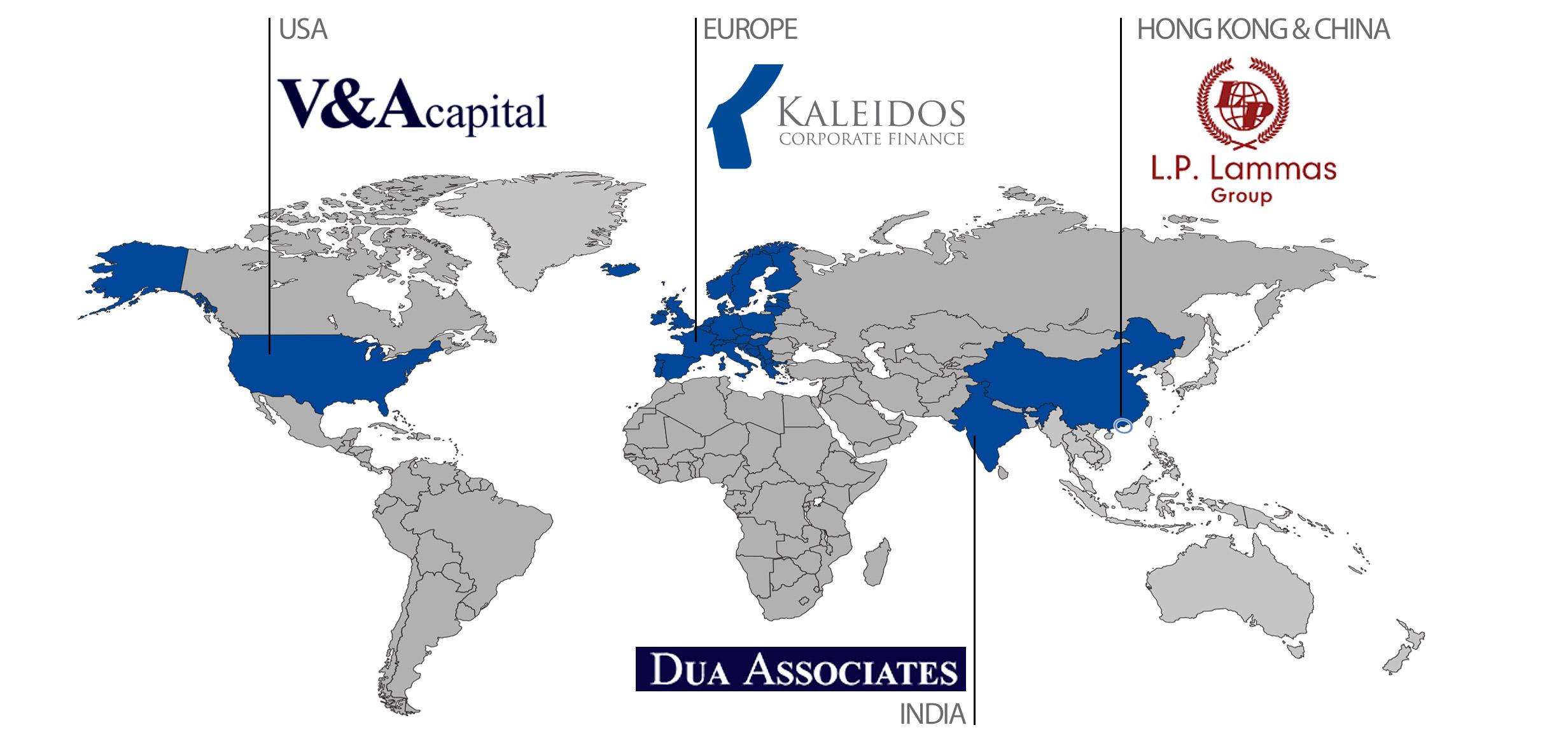 Kaleidos International Partner Map